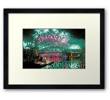 Simply The Best ! - Sydney NYE Fireworks  #5 Framed Print