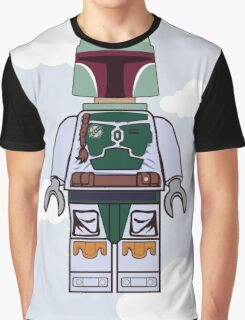 Boba Fett Brick Boy Graphic T-Shirt