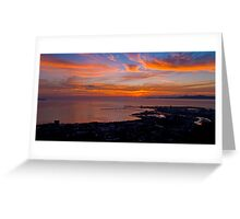 Townsville Sunrise - From Castle Hill Greeting Card