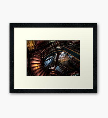 QVB Staircase Framed Print