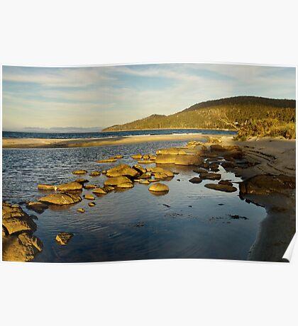 Captain Cook Creek in late setting sun - Bruny Island, Tasmania Poster