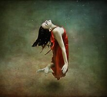 Red Dress Mermaid 1 by Annette Blattman