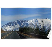 The Crater Mt St Helens Washington Poster