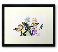 Rick and Morty Go time Framed Print