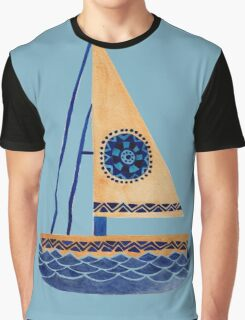 The Tribal Sailboat Graphic T-Shirt