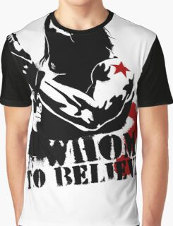 Whom to believe? Graphic T-Shirt