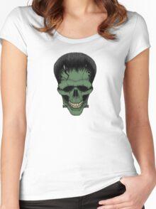 Stack's Skull Sunday No. 6 (Frankenstein's Monster) Women's Fitted Scoop T-Shirt