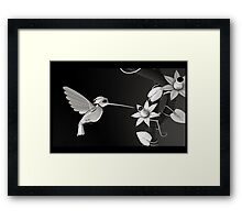BirdBot - Hi tech nature series (sci-fi) Framed Print