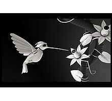 BirdBot - Hi tech nature series (sci-fi) Photographic Print