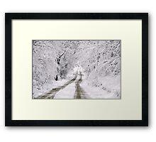 First Fallen Snow Framed Print