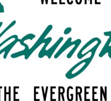Welcome to Washington, Road Sign, USA Sticker