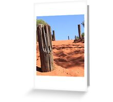 Mt Connor Sand Dune Greeting Card