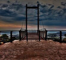 Sealy Lookout at dusk by Normf