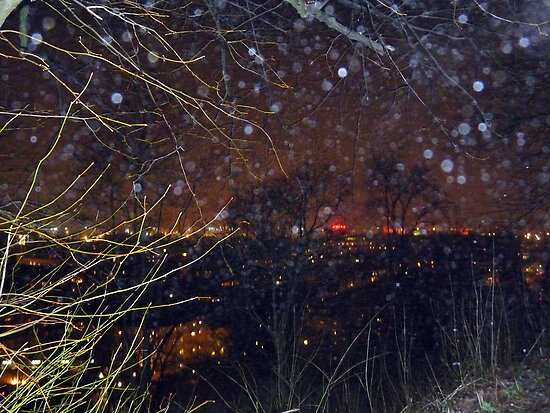 City Lights and Elementals On New Year´s Eve in Gothenburg by HELUA