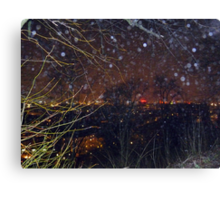 City Lights and Elementals On New Year´s Eve in Gothenburg Canvas Print