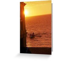 Cottesloe Beach Surf Boat Greeting Card
