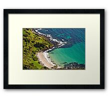 Seagulls Eye View - Cove below Table Cape Framed Print