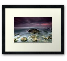 Sunset at Stoney Beach, Tuross Head, NSW Framed Print