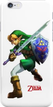 Zelda with Red Title White iPhone Case by TalkThatTalk