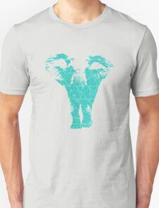 Elephant print  - vintage map T-Shirt