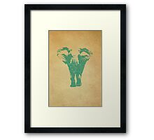 Elephant print  - vintage map Framed Print