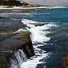 ocean waterfalls by Daniel Sherwood