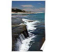 ocean waterfalls Poster