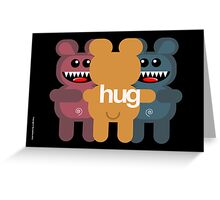 BEAR HUG 3 Greeting Card