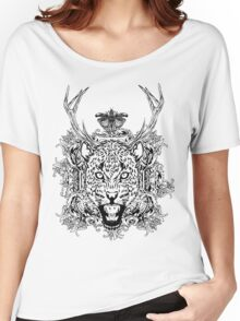 Jaguar white Women's Relaxed Fit T-Shirt