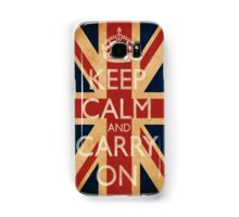 Keep Calm And Carry On. Samsung Galaxy Case/Skin