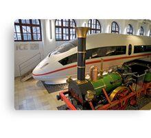 Adler & ICE 3 at DB Museum, Nuremberg, Germany.  Canvas Print