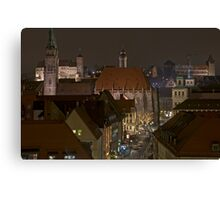Nuremberg, Germany, at Christmas-time.  Canvas Print