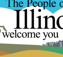 Welcome to Illinois, Road Sign, USA  Sticker