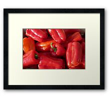 Peppers in the sun Framed Print