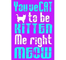 You've Cat to be Kitten me right Meow! Photographic Print