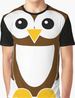 Brown Owl with White Belly Graphic T-Shirt