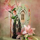 Pink Lilies  by Irene  Burdell