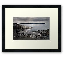 Rain at Jackfish Bay Framed Print
