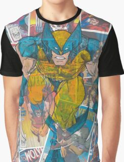 Vintage Comic Wolverine Graphic T-Shirt