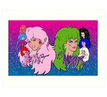 Jem and the Holograms Vs The Misfits Art Print