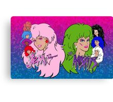 Jem and the Holograms Vs The Misfits Canvas Print