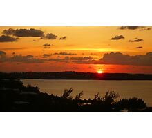 Sunset in Bermuda Photographic Print