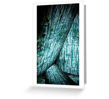 blue wood  texture art Greeting Card
