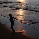 Caribbean Sunset Swim by John Dalkin