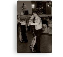 Girl with the Dancing Hair Canvas Print