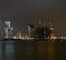 Rotterdam Skyline By Night by Paul Kampman