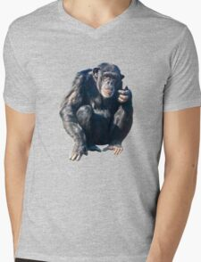 Chimpanzee Mens V-Neck T-Shirt