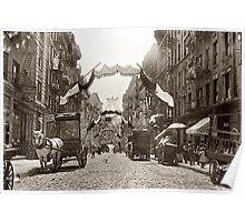 Little Italy Mott Street NYC Photograph (1908) Poster