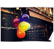 Balloons - East Village - New York City Poster