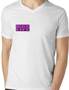High Life Mens V-Neck T-Shirt